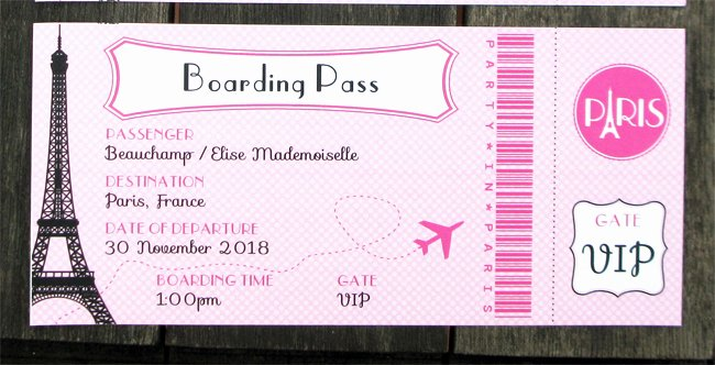 Boarding Pass Birthday Invitations Inspirational Paris Party Printables Invitations & Decorations