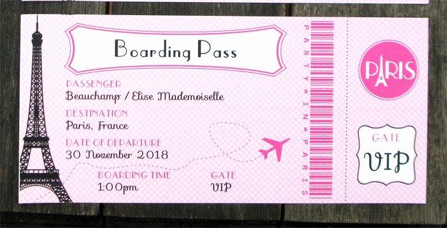 Boarding Pass Birthday Invitations Inspirational Paris Party Printables Invitations & Decorations