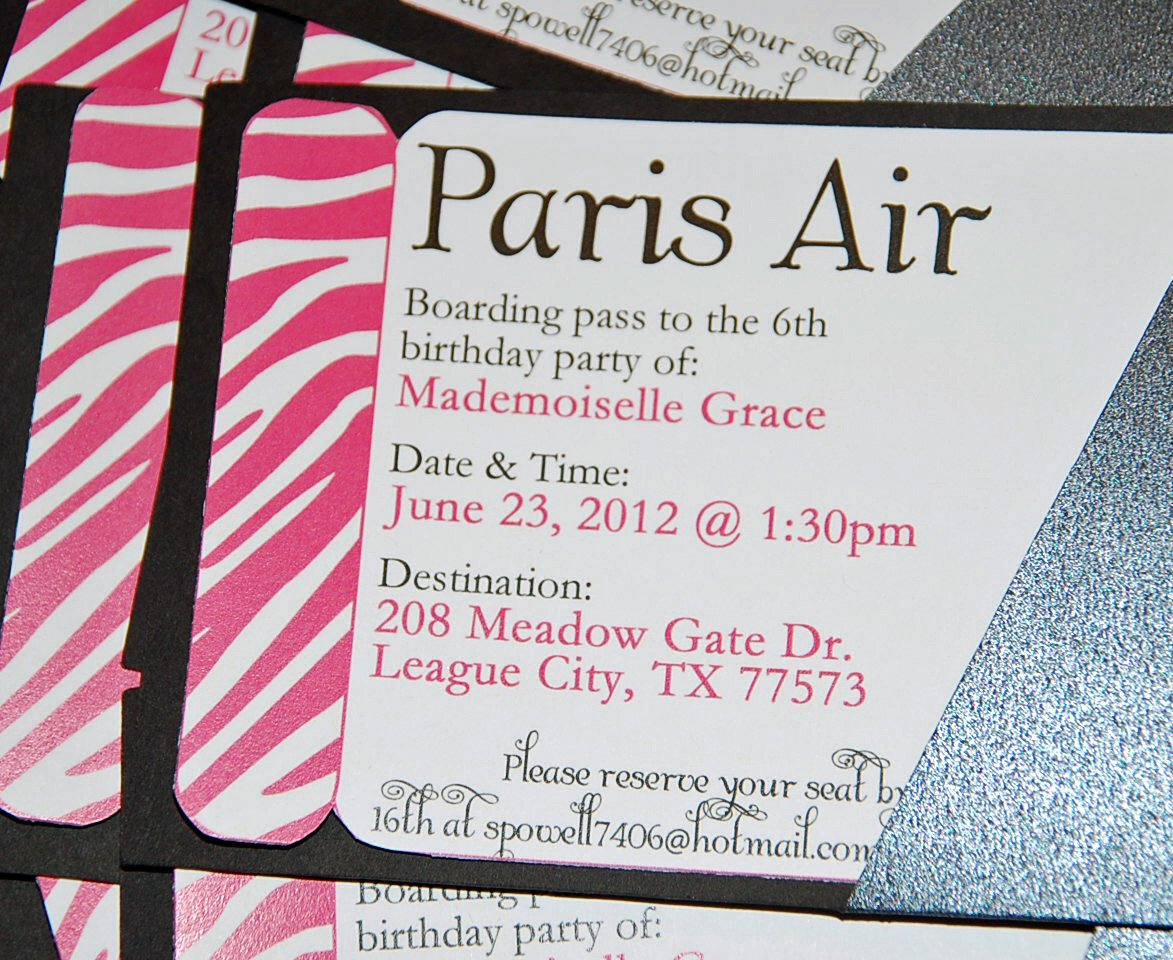 Boarding Pass Birthday Invitations Luxury Boarding Pass Printable Invitation Summer In Paris Party