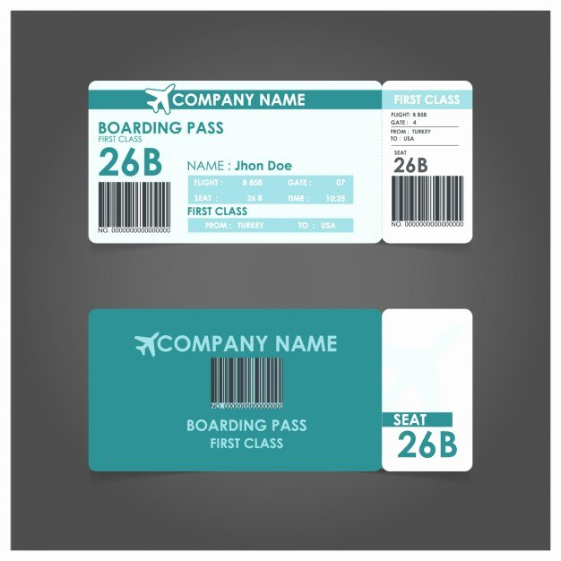 Boarding Pass Template Free Awesome Airplane Ticket Vectors S and Psd Files