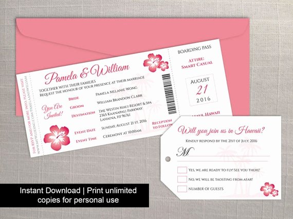 Boarding Pass Template Free Best Of Diy Printable Wedding Boarding Pass Luggage Tag Template