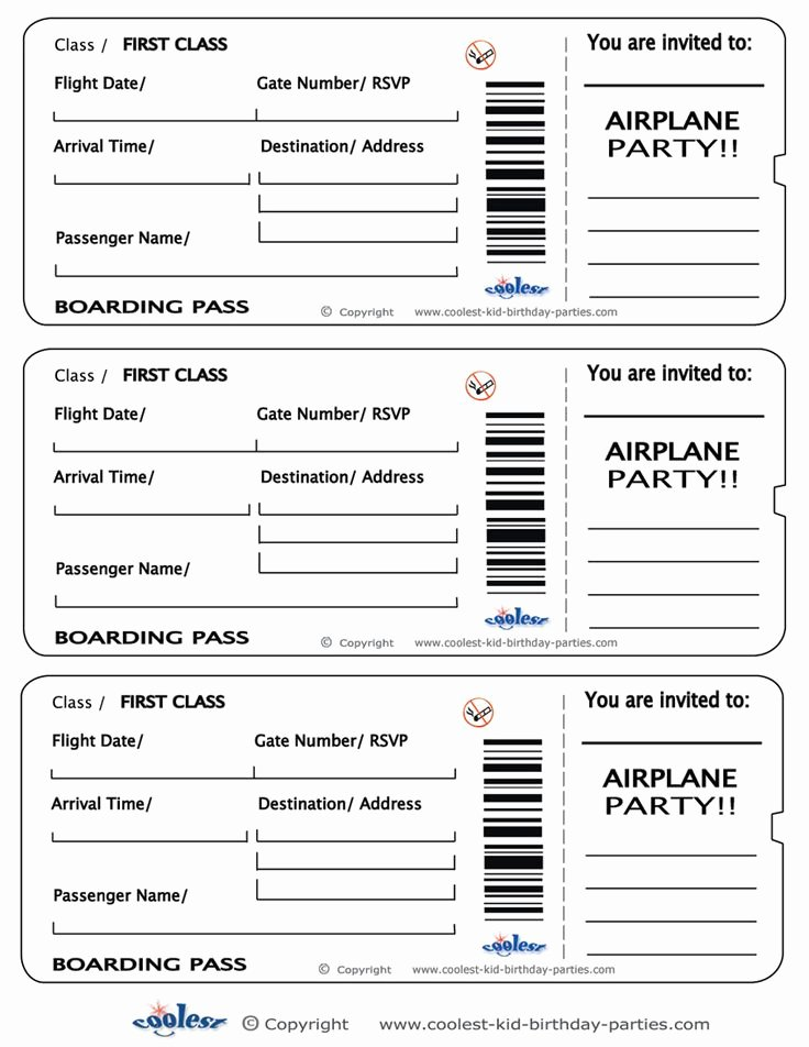 Boarding Pass Template Free Elegant Printable Airplane Boarding Pass Invitations Coolest
