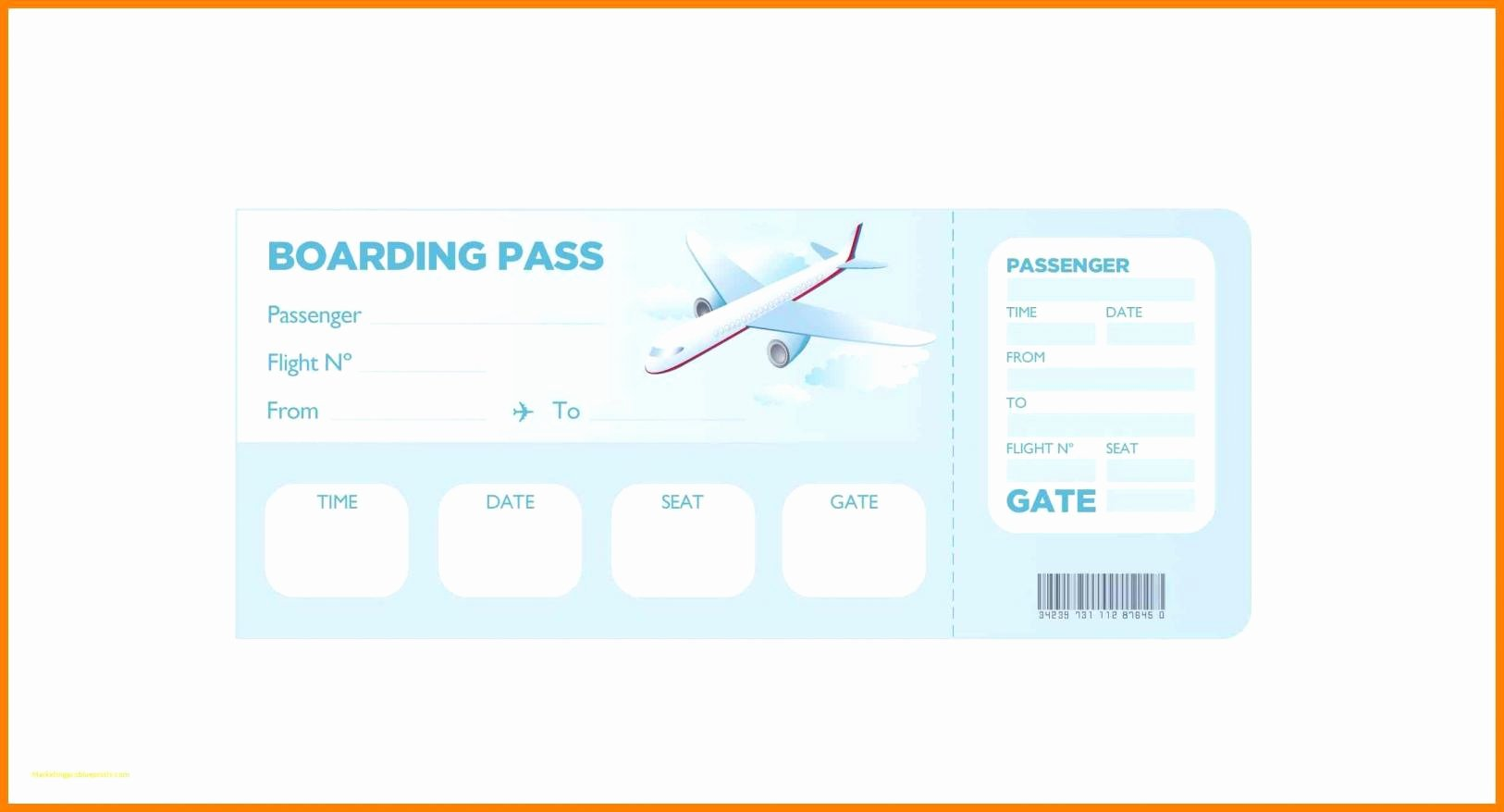 Boarding Pass Template Free Fresh Boarding Pass Template