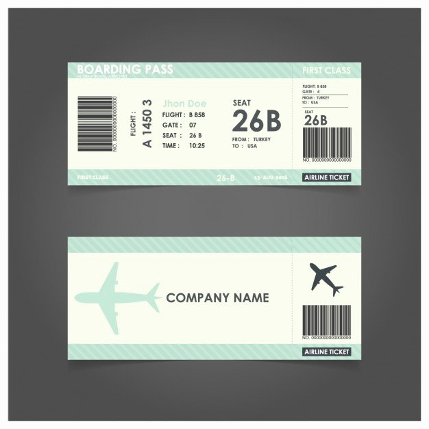 Boarding Pass Template Free Lovely Green Boarding Pass Template Vector