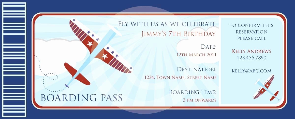 Boarding Pass Template Free New Boarding Pass Airplanes Invitation Diy Printable Party