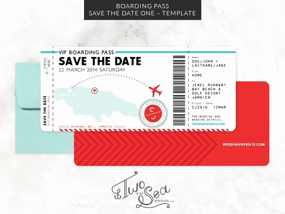 Boarding Pass Template Free New Boarding Pass Save the Date Template Invitation