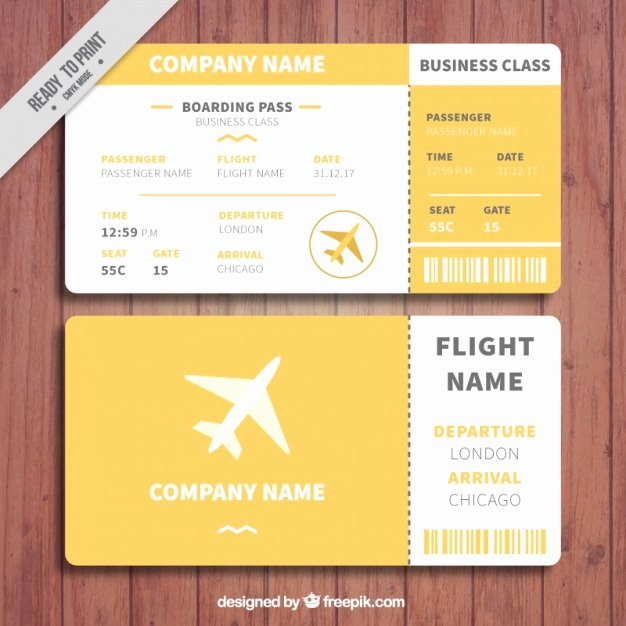 Boarding Pass Template Free New orange and White Boarding Pass Template Vector