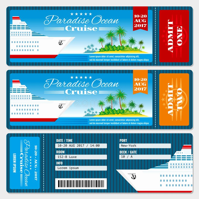 Boarding Pass Template Free Unique Cruise Ship Boarding Pass Ticket Honeymoon Wedding
