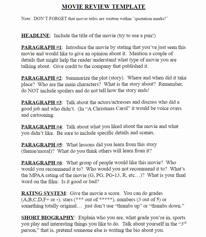 Book Analysis format Sample Awesome How to End A Movie Review How to Write A Movie Critique