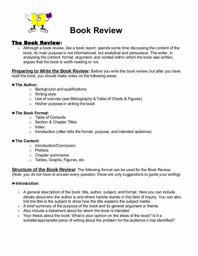 Book Analysis format Sample Elegant Book Review format 1