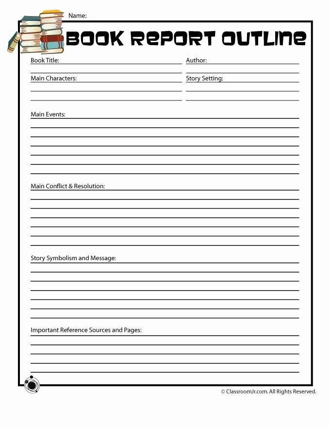 Book Review Template Middle School Beautiful 5th Grade Book Report Printables