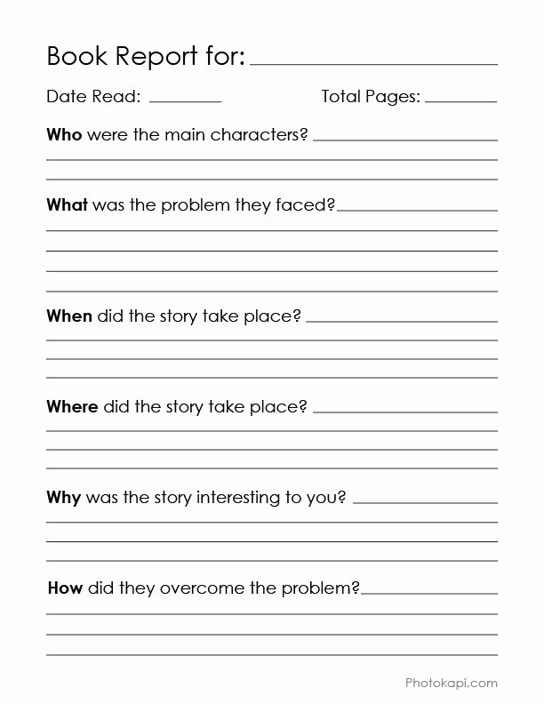 Book Review Template Middle School Elegant Book Report Chart My Graphic Design