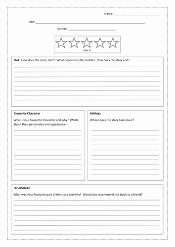 Book Review Template Middle School Luxury Book Review Template by Bubbleresources