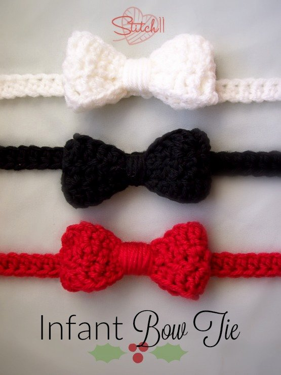 Bow Tie Patterns Best Of Infant Bow Tie Free Crochet Pattern Stitch11