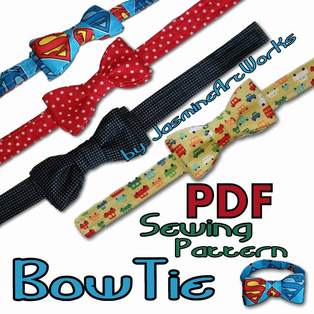 Bow Tie Patterns Elegant Bow Tie Diy Pdf Sewing Pattern