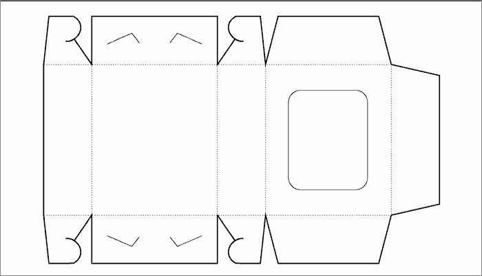 Box Cut Out Patterns Awesome Box Template