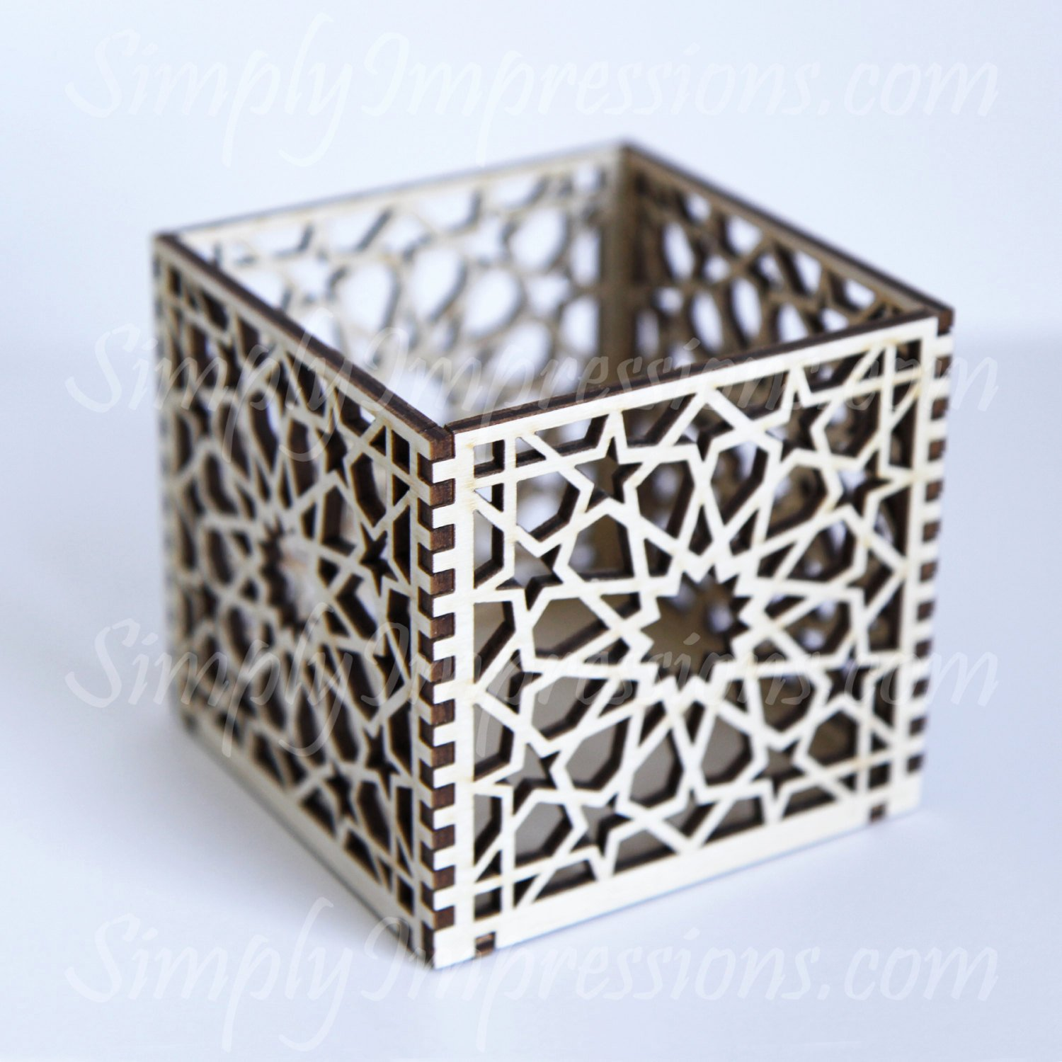 Box Cut Out Patterns Awesome Geometric Wood Box Laser Cut Out