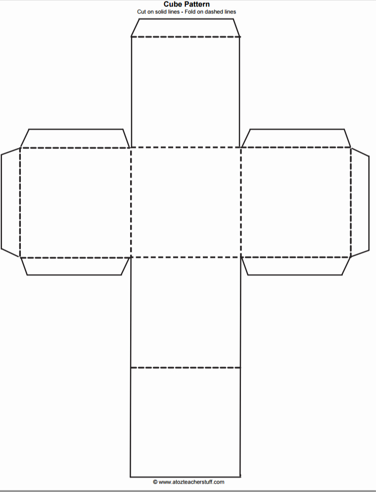 Box Cut Out Patterns Fresh Printable Cube Pattern or Template
