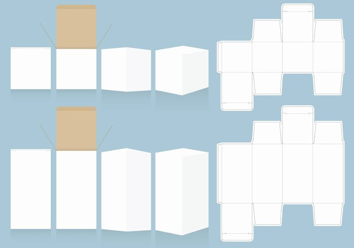 Box Cut Out Patterns Unique 5 Packaging & Box Templates