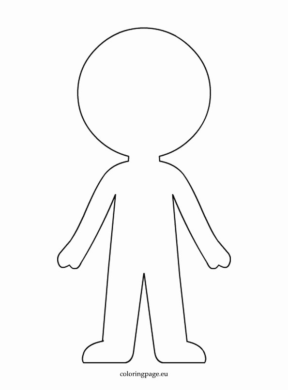 Boy and Girl Template Awesome Boy Paper Doll Template Coloring Page Clipart