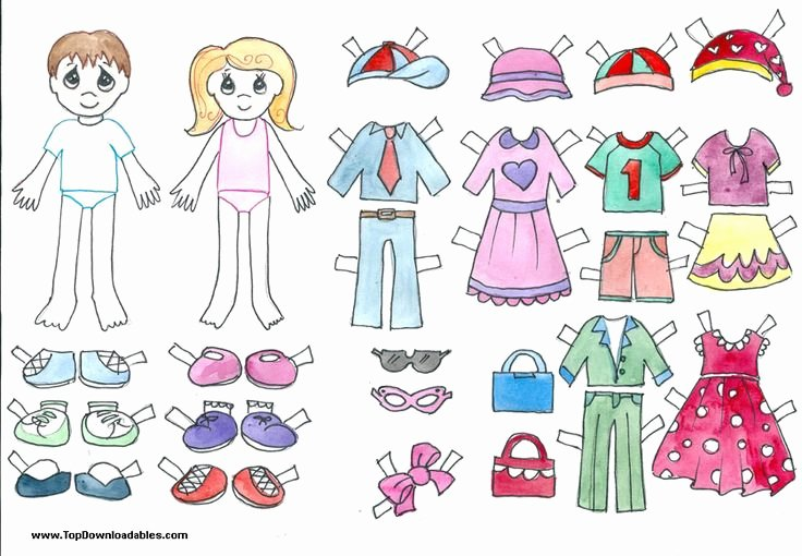Boy and Girl Template Beautiful Free Printable Paper Doll Cutout Templates for Kids and
