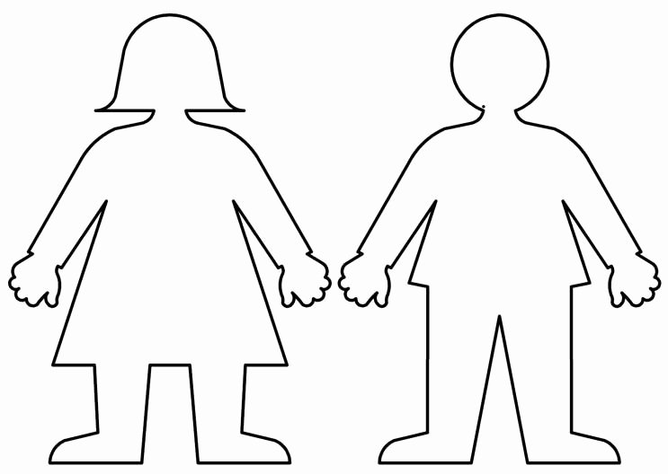 Boy and Girl Template Best Of Traceable Body Shape Color Me Me