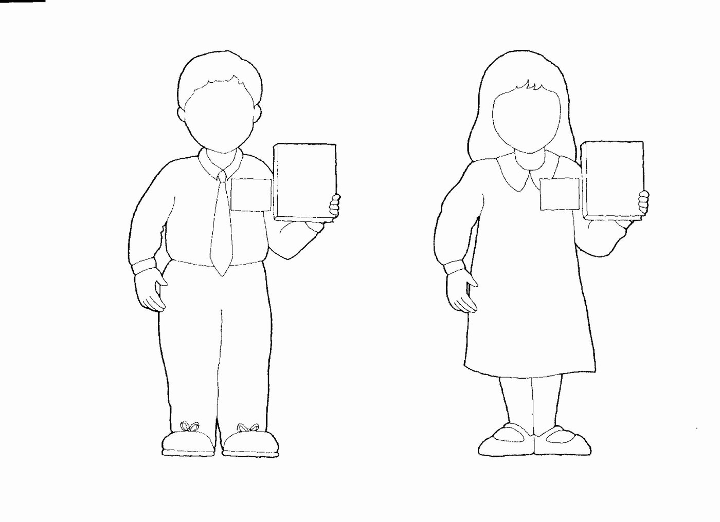 Boy and Girl Template Elegant Boy and Girl Templates Printable