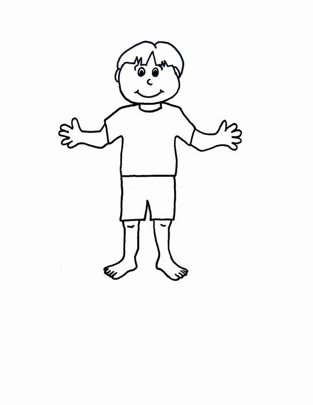 Boy and Girl Template Elegant Paper Dolls with Clothes Craft N Home