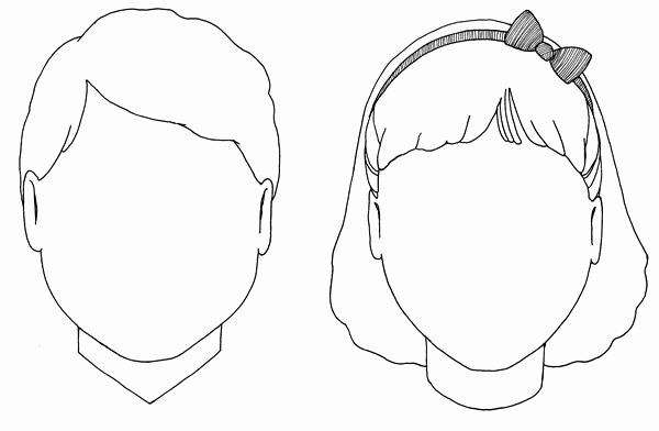 Boy and Girl Template Fresh Boy and Girl Face Templates Put 2 On Each Page