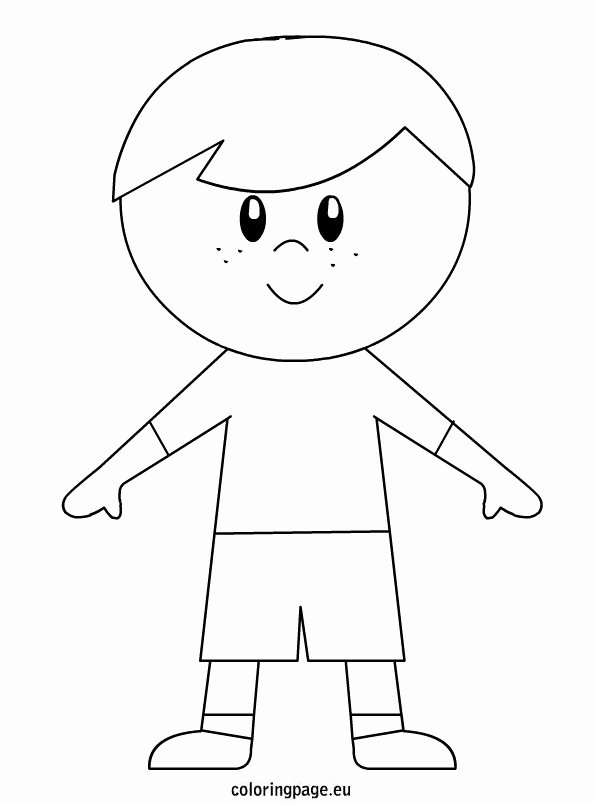 Boy and Girl Template Fresh Little Boy – Coloring Page