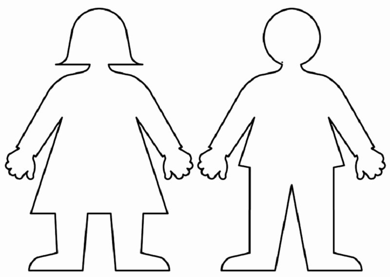 Boy and Girl Template Lovely Boy and Girl Templates Printable
