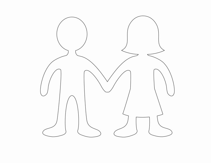 Boy and Girl Template Lovely Paper Doll Template Best Coloring Pages for Kids