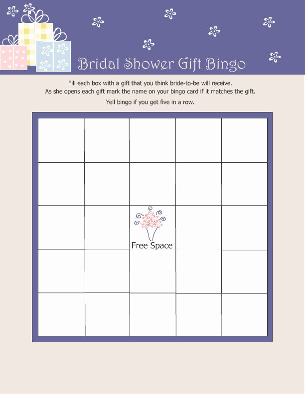 Bridal Shower Bingo Template Free Awesome 10 Free Bridal Games for Showers Printable All Free