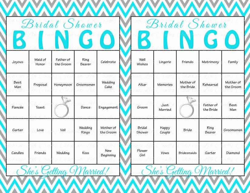 Bridal Shower Bingo Template Free Awesome 100 Bridal Shower Bingo Cards Diy by Celebratelifecrafts