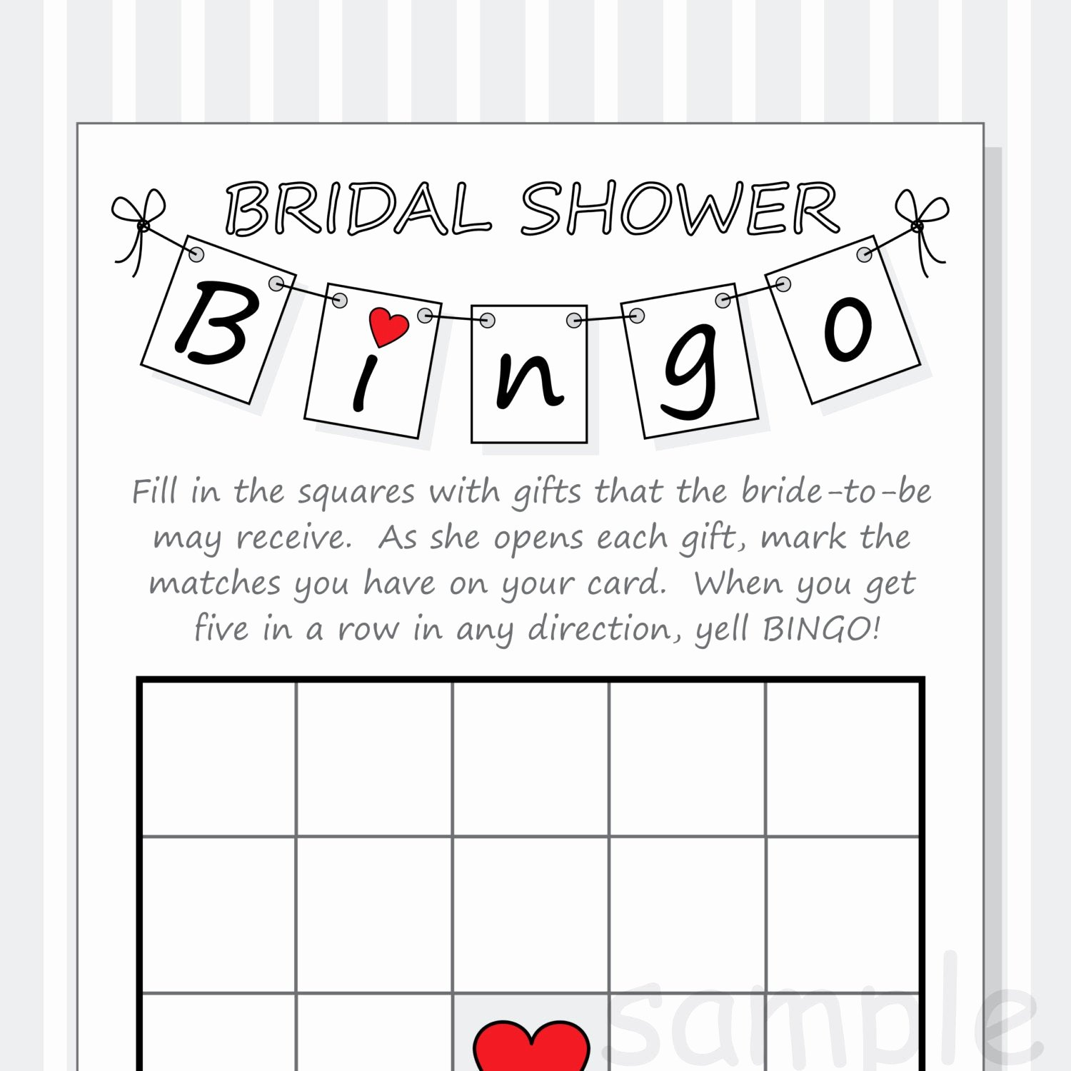 Bridal Shower Bingo Template Free Awesome Diy Bridal Shower Bingo Printable Cards Pennant Design Red