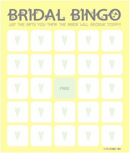 Bridal Shower Bingo Template Free Best Of 12 Free Bridal Shower Bingo Template All Free Template