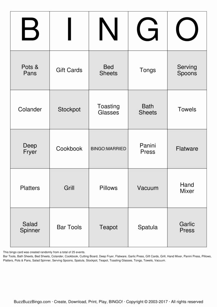 Bridal Shower Bingo Template Free Best Of Bridal Shower Bingo Cards to Download Print and Customize
