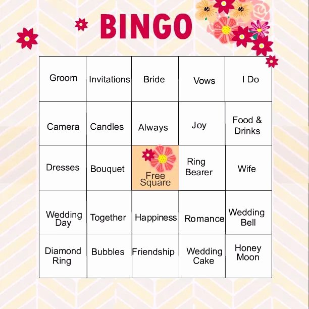 Bridal Shower Bingo Template Free Fresh 11 Free Printable Bridal Showers Bingo Cards