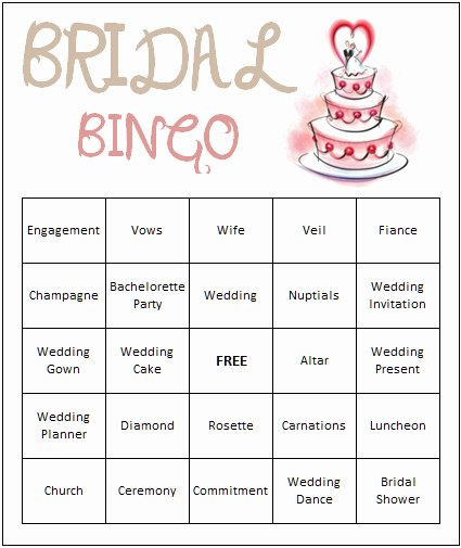 Bridal Shower Bingo Template Free Lovely 9 Best S Of Free Printable Wedding Dj Bingo Card