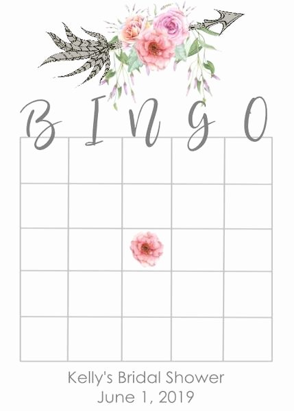 Bridal Shower Bingo Template Free Lovely Arrow Design Bridal Shower Bingo Cards
