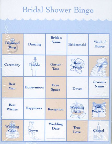 Bridal Shower Bingo Template Free New Wedding Bridal Shower Party Bingo Cards 24 Game Cards