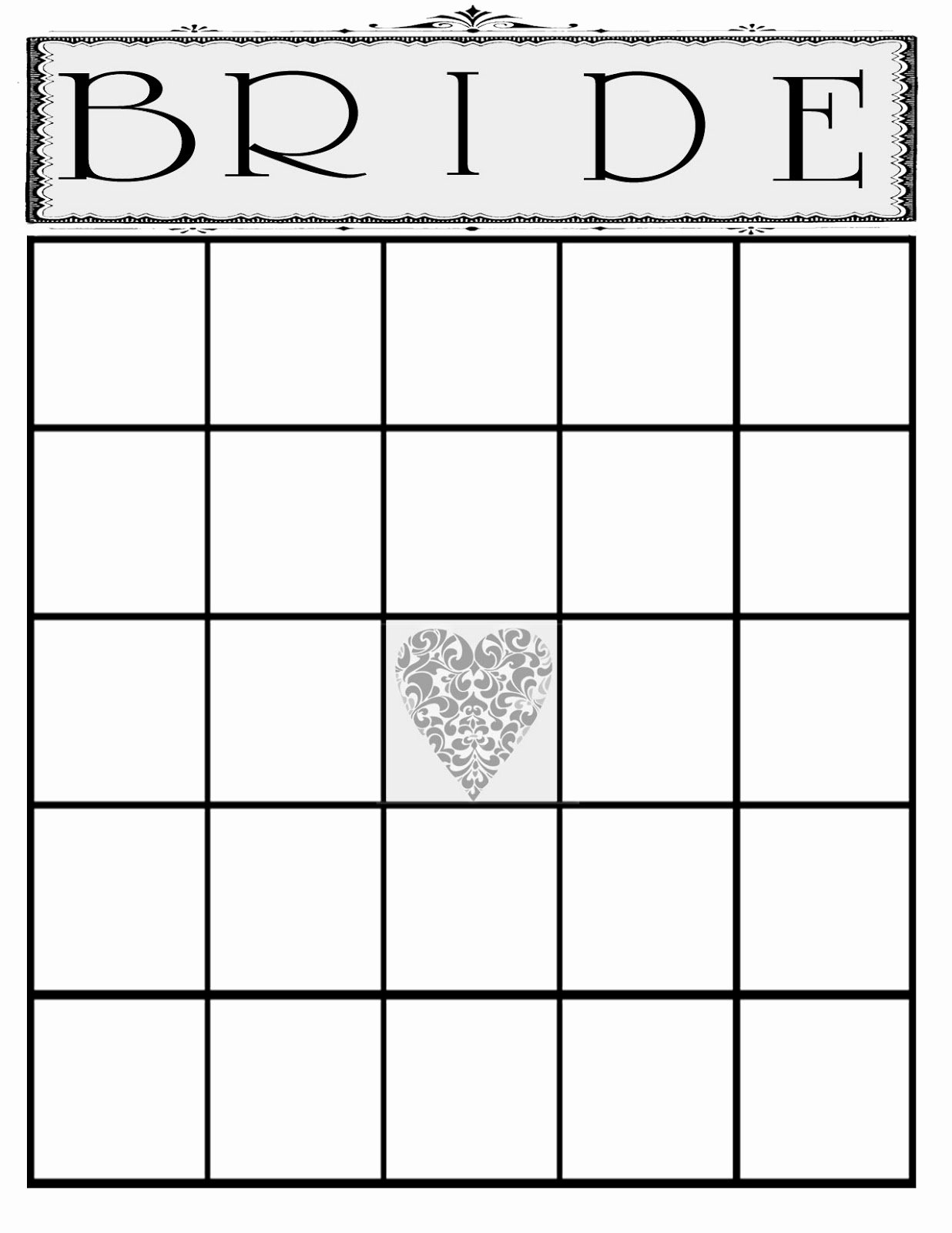 Bridal Shower Bingo Template Free Unique the Creative Pointe A Beautiful Bridal Shower and A