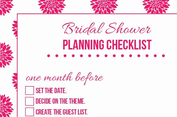 Bridal Shower Checklist Printable Awesome Items Similar to Bridal Shower Planning organizational