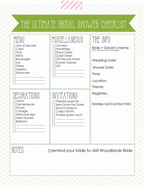 Bridal Shower Checklist Printable Best Of Oh E Fine Day Ultimate Wedding Day Emergency Kit