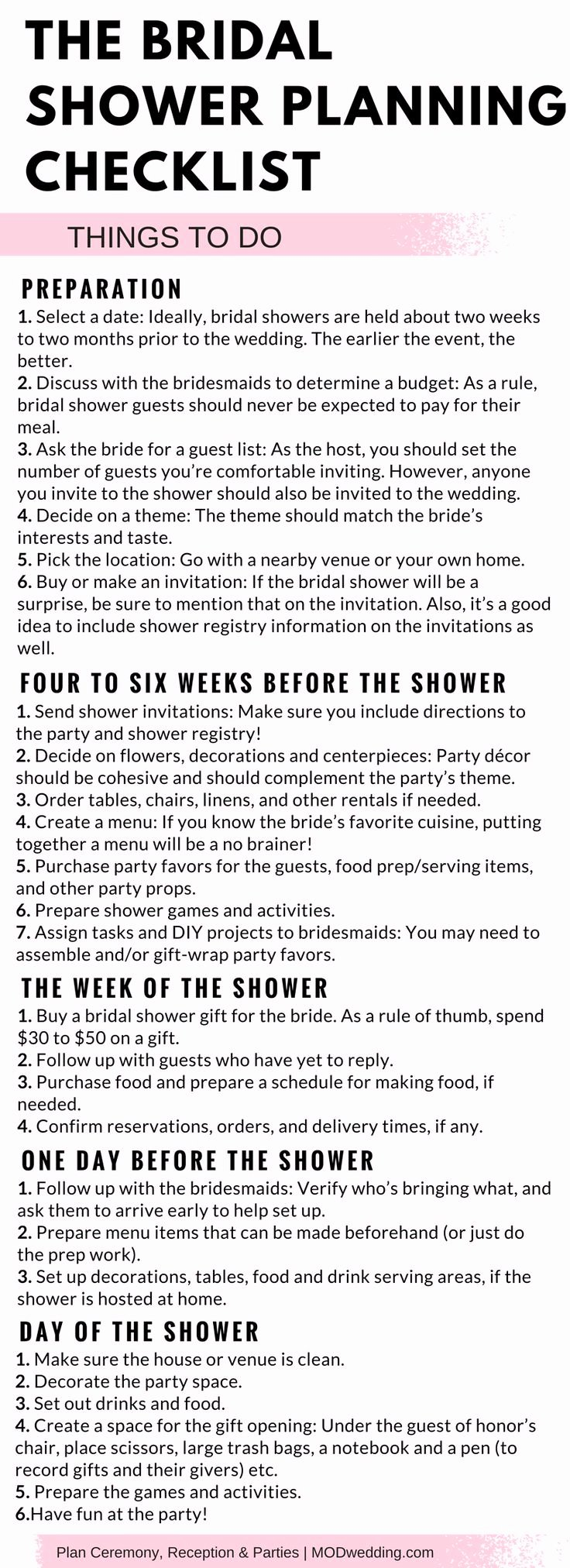Bridal Shower Checklist Printable Fresh Best 25 Bridal Shower Checklist Ideas On Pinterest