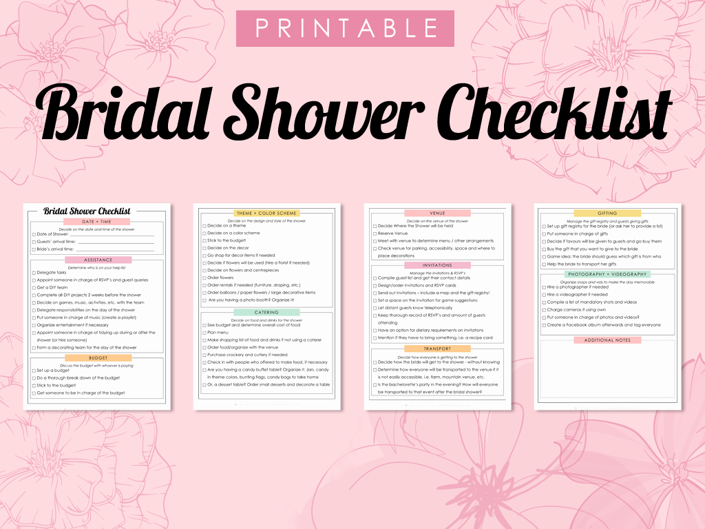 Bridal Shower Checklist Printable Inspirational Bridal Shower Checklist—twc Printables—main Image – the