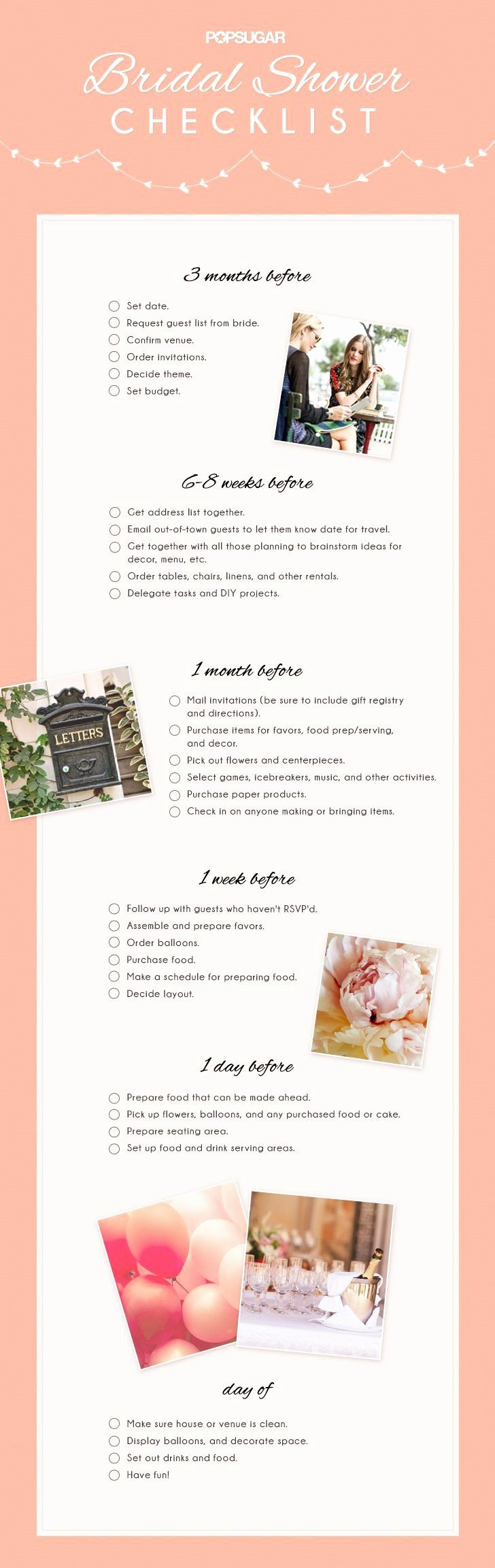 Bridal Shower Checklist Printable Luxury Best 25 Bridal Shower Checklist Ideas On Pinterest