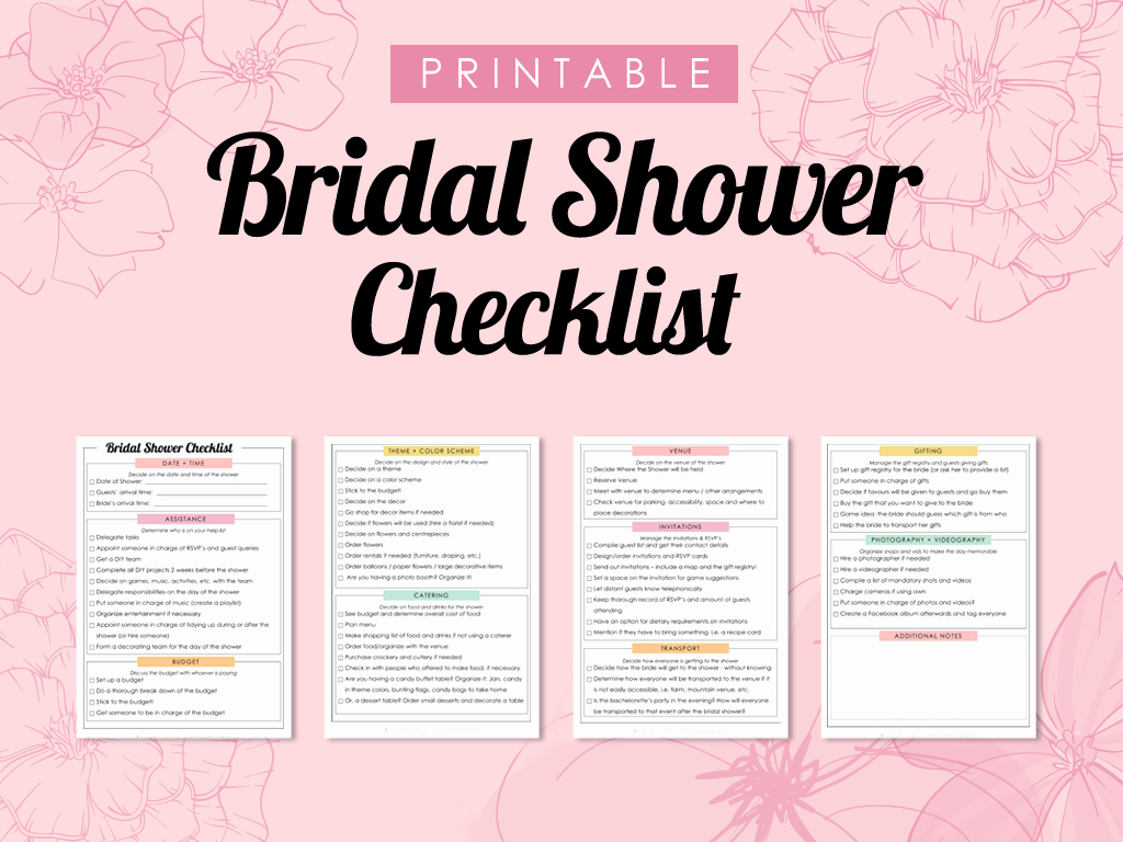 Bridal Shower Checklist Printable Luxury the Plete Guide to Wedding Binder Printables the