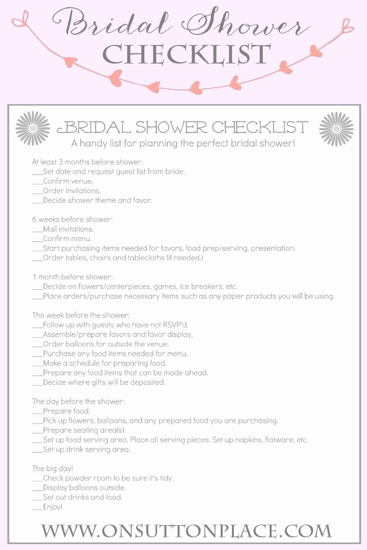 Bridal Shower Checklist Printable New Handy Printable Checklist to Help Plan the Perfect Bridal