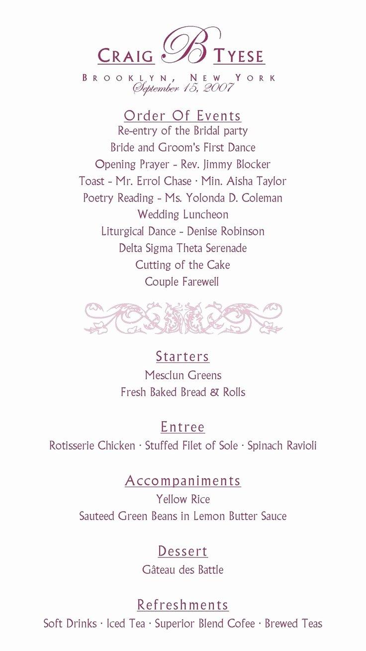 Bridal Shower Program Sample Beautiful Best 25 Wedding Reception Program Ideas On Pinterest